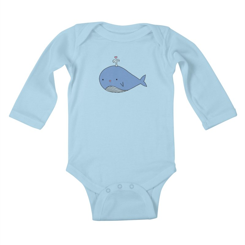 Happy Whale Kids Baby Longsleeve Bodysuit by Origami Studio