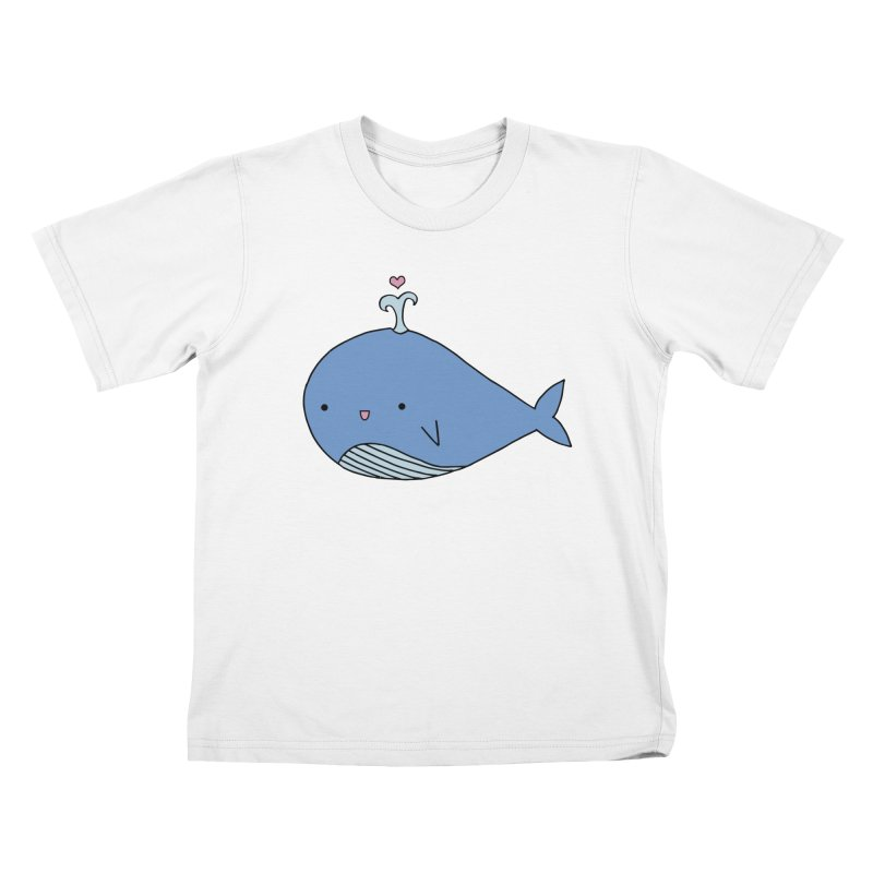 Happy Whale Kids T-Shirt by Origami Studio