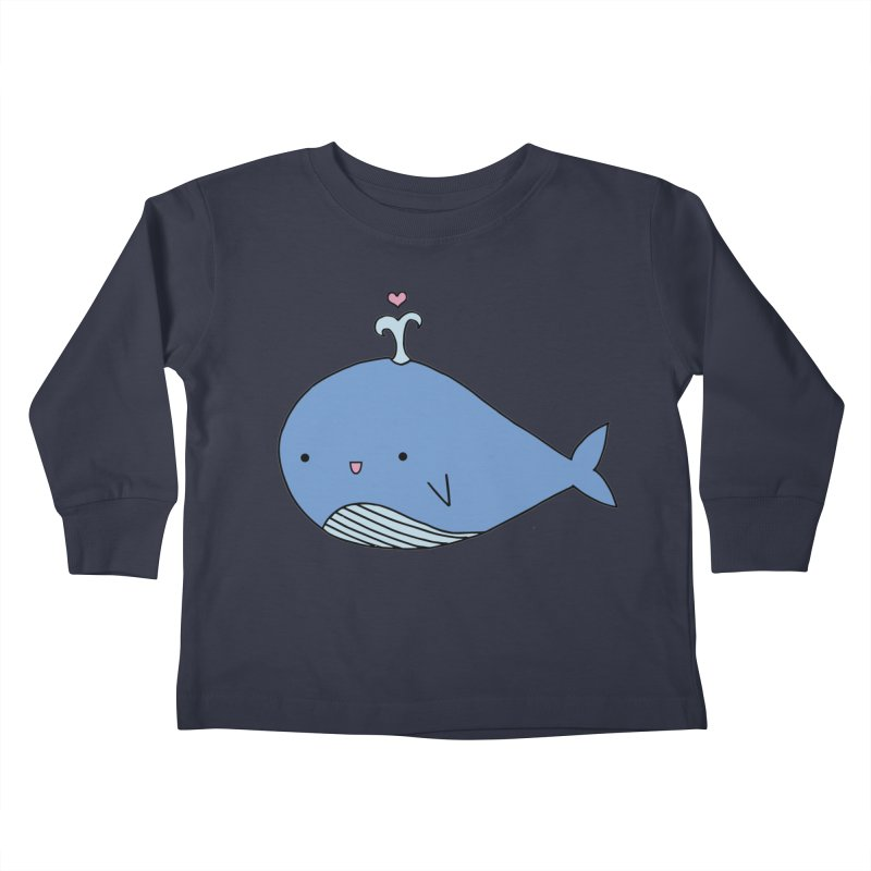 Happy Whale Kids Toddler Longsleeve T-Shirt by Origami Studio