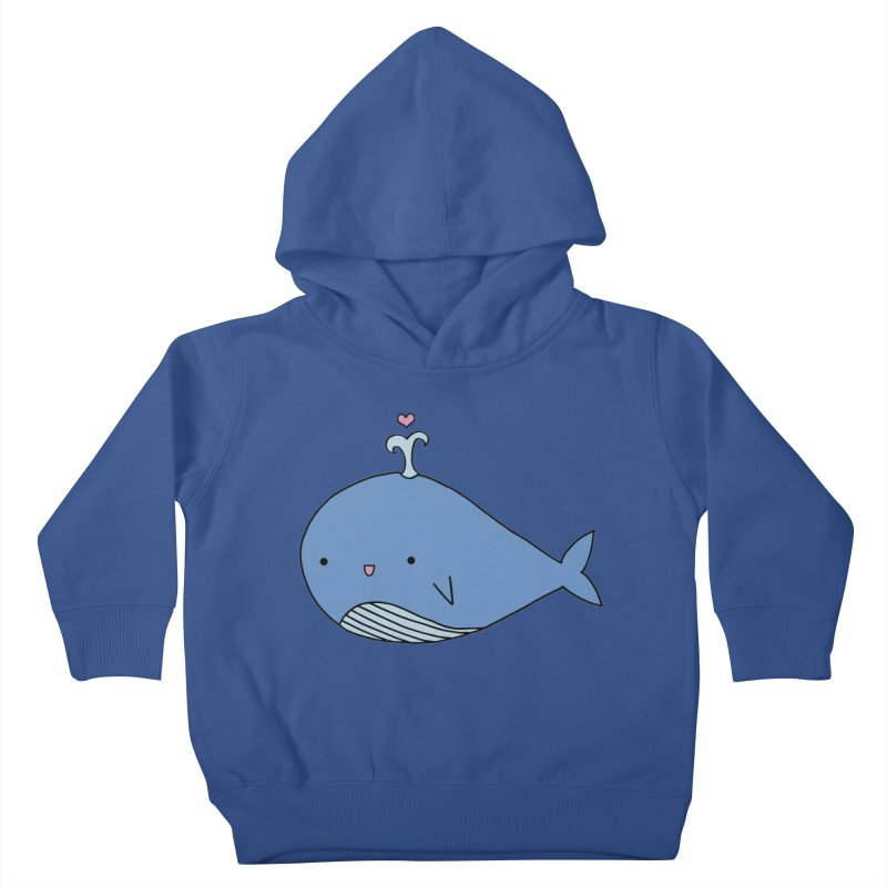 Happy Whale Kids Toddler Pullover Hoody by Origami Studio
