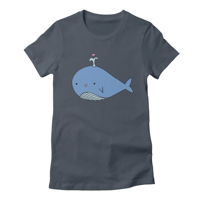 Happy Whale Women's T-Shirt by Origami Studio