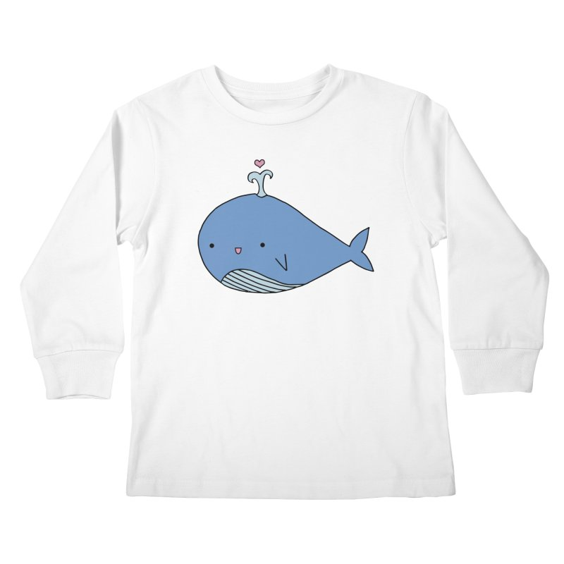 Happy Whale Kids Longsleeve T-Shirt by Origami Studio