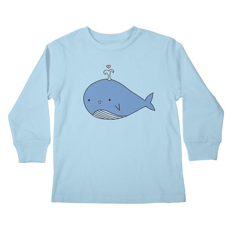 Happy Whale Kids Longsleeve T-Shirt by Origami Studio