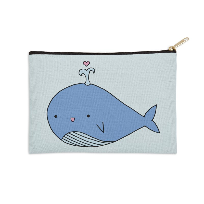 Happy Whale Accessories Zip Pouch by Origami Studio