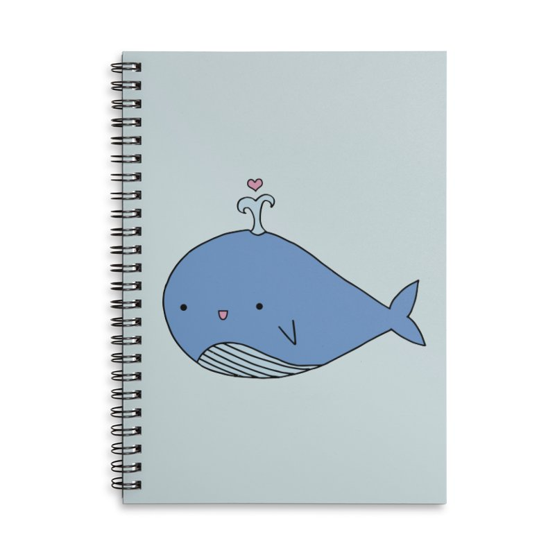 Happy Whale Accessories Lined Spiral Notebook by Origami Studio