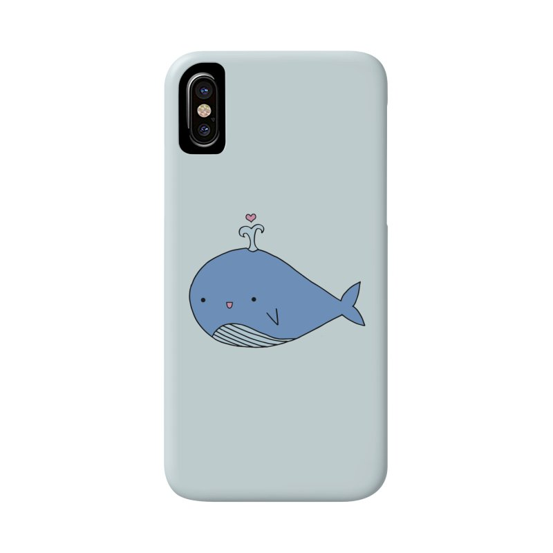 Happy Whale Accessories Phone Case by Origami Studio