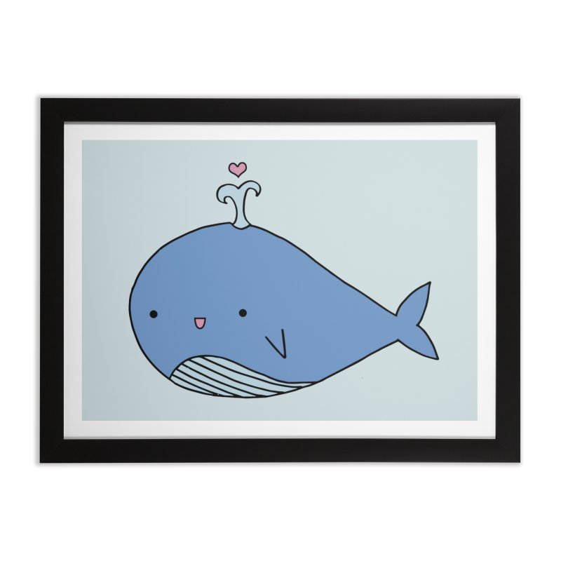 Happy Whale Home Framed Fine Art Print by Origami Studio