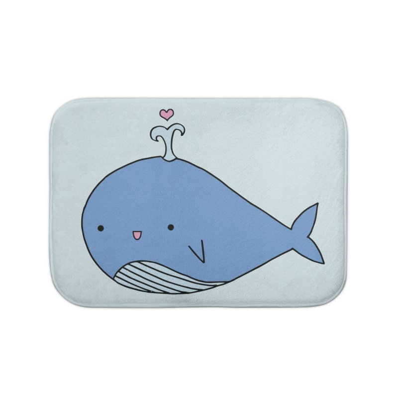 Happy Whale Home Bath Mat by Origami Studio