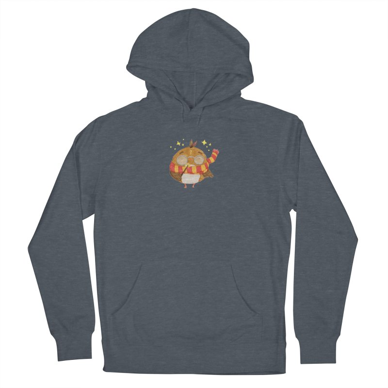 Little Harry Owl Men's French Terry Pullover Hoody by Origami Studio