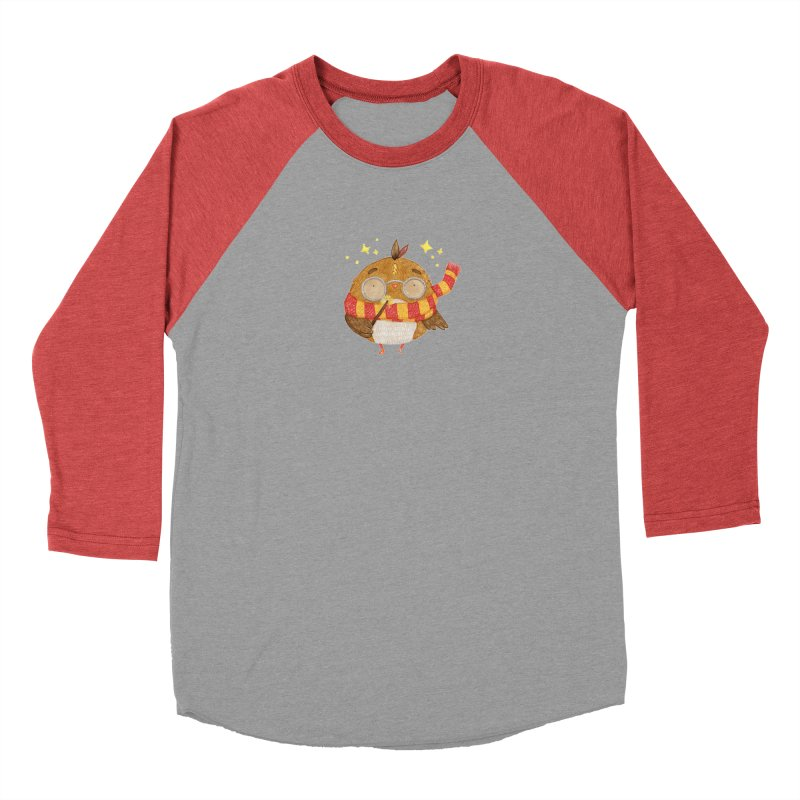 Little Harry Owl Women's Baseball Triblend Longsleeve T-Shirt by Origami Studio