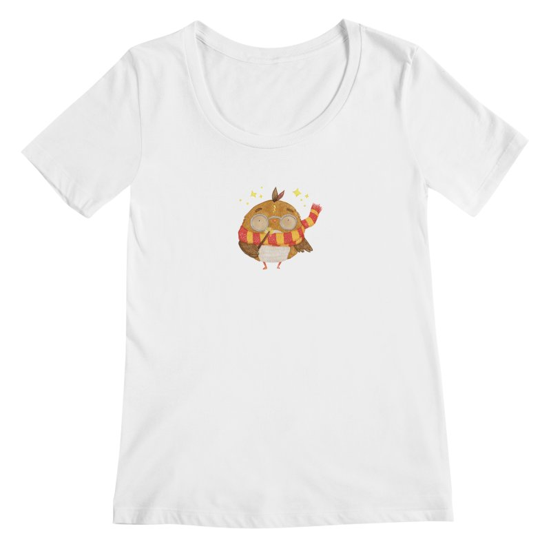 Little Harry Owl Women's Regular Scoop Neck by Origami Studio