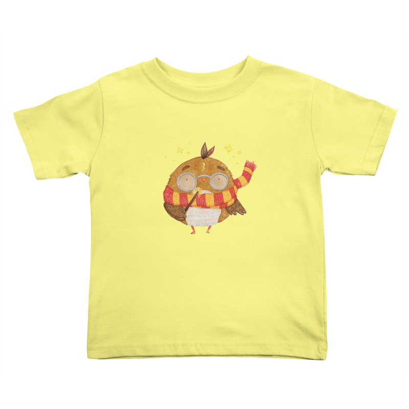 Little Harry Owl Kids Toddler T-Shirt by Origami Studio