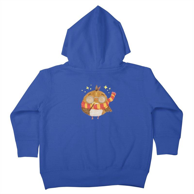 Little Harry Owl Kids Toddler Zip-Up Hoody by Origami Studio
