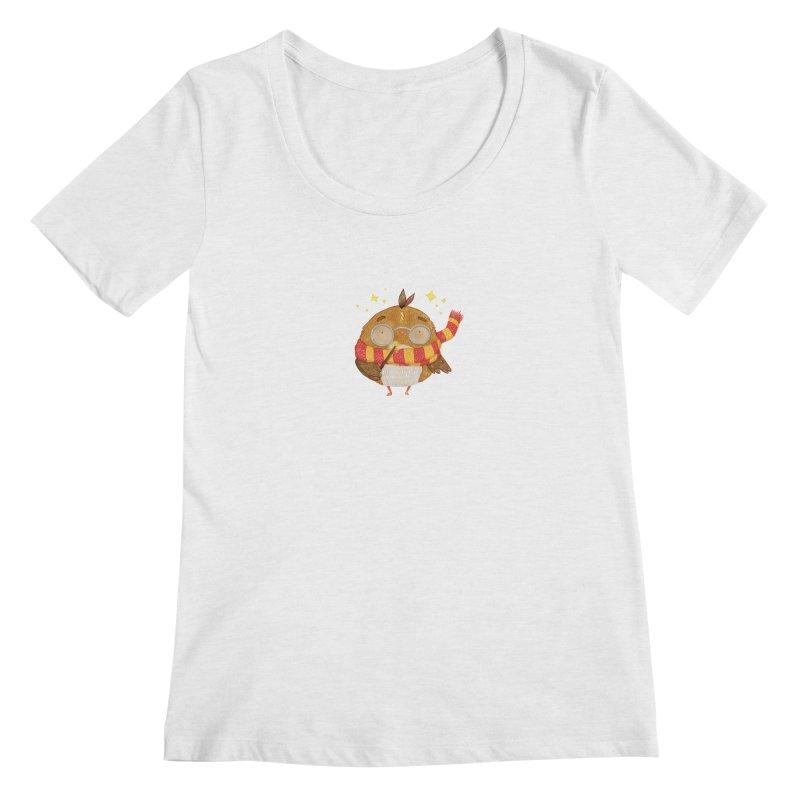 Little Harry Owl Women's Regular Scoop Neck by Origami Studio