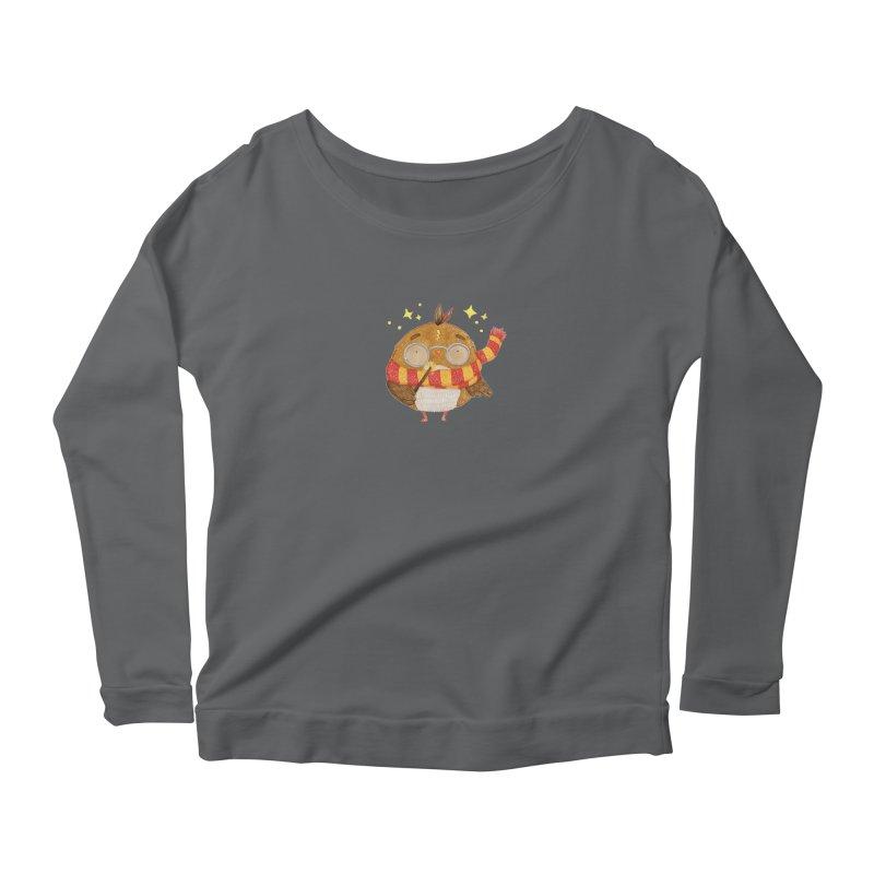 Little Harry Owl Women's Scoop Neck Longsleeve T-Shirt by Origami Studio