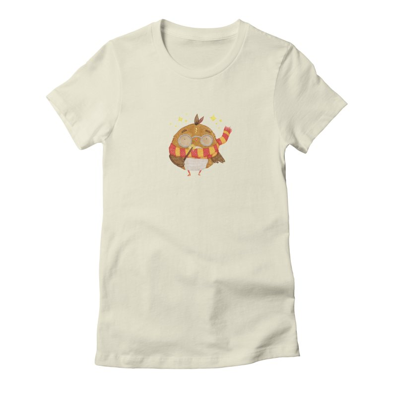 Little Harry Owl Women's Fitted T-Shirt by Origami Studio