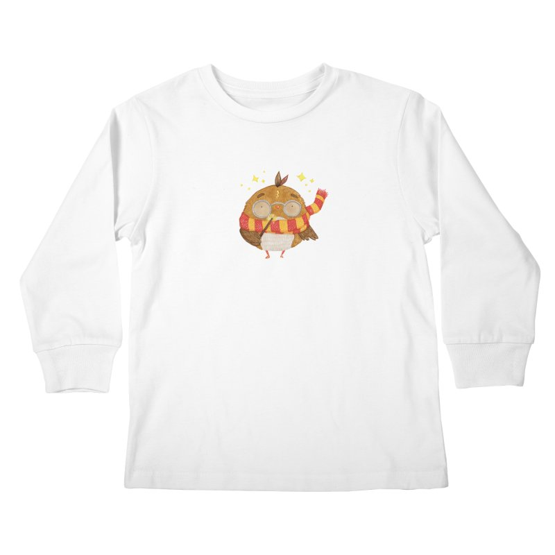 Little Harry Owl Kids Longsleeve T-Shirt by Origami Studio