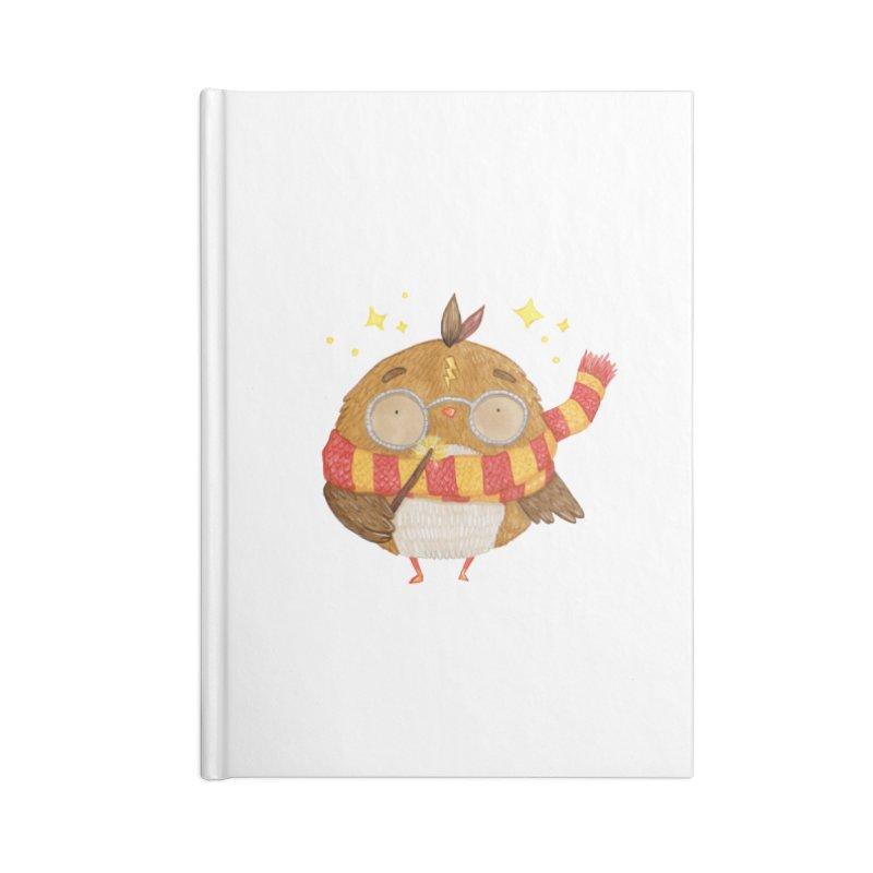 Little Harry Owl Accessories Blank Journal Notebook by Origami Studio