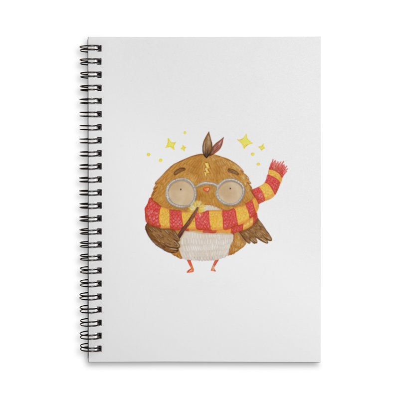 Little Harry Owl Accessories Lined Spiral Notebook by Origami Studio