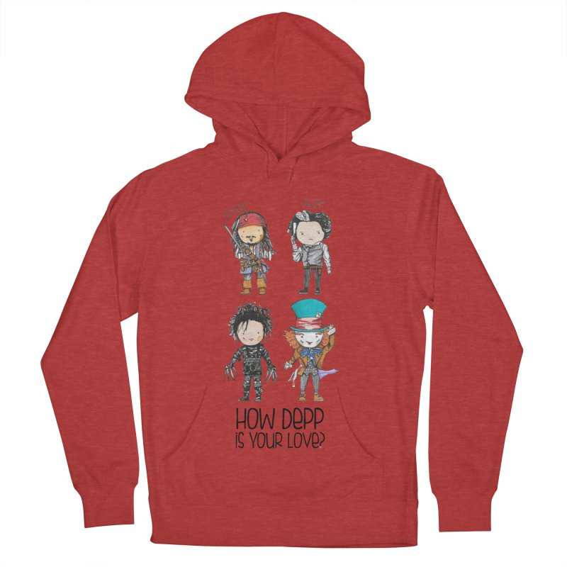 How Depp is your love? Women's French Terry Pullover Hoody by Origami Studio