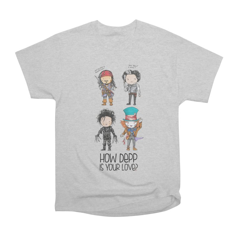 How Depp is your love? Women's Heavyweight Unisex T-Shirt by Origami Studio