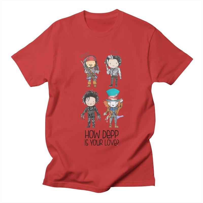 How Depp is your love? Women's Regular Unisex T-Shirt by Origami Studio