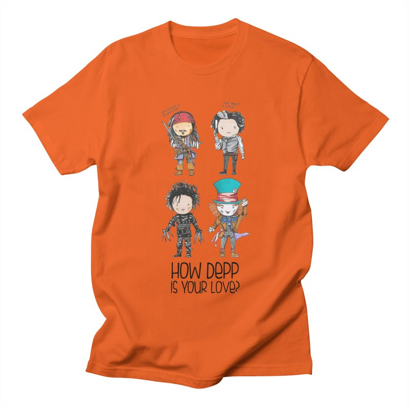 How Depp is your love? Women's Regular Unisex T-Shirt by Origami Studio