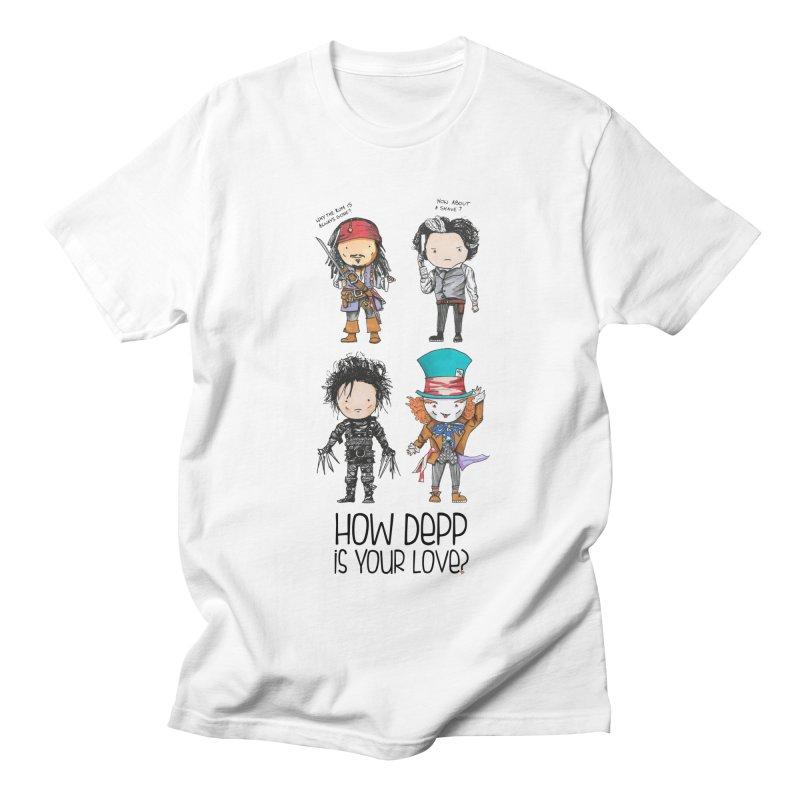 How Depp is your love? Men's Regular T-Shirt by Origami Studio