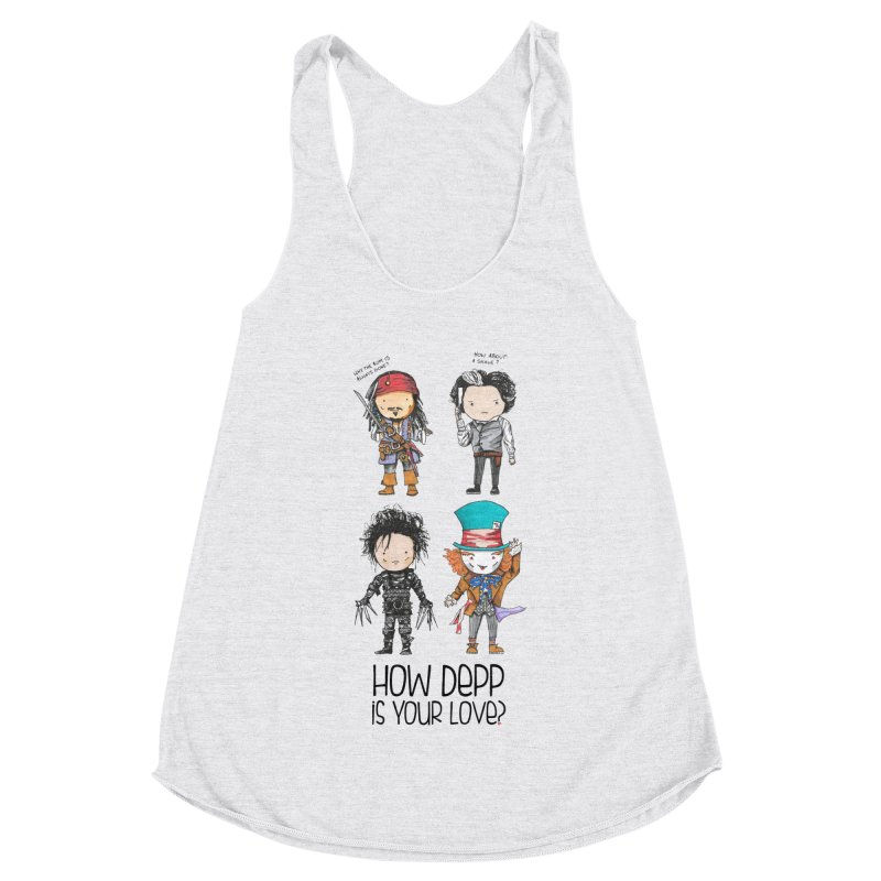 How Depp is your love? Women's Racerback Triblend Tank by Origami Studio