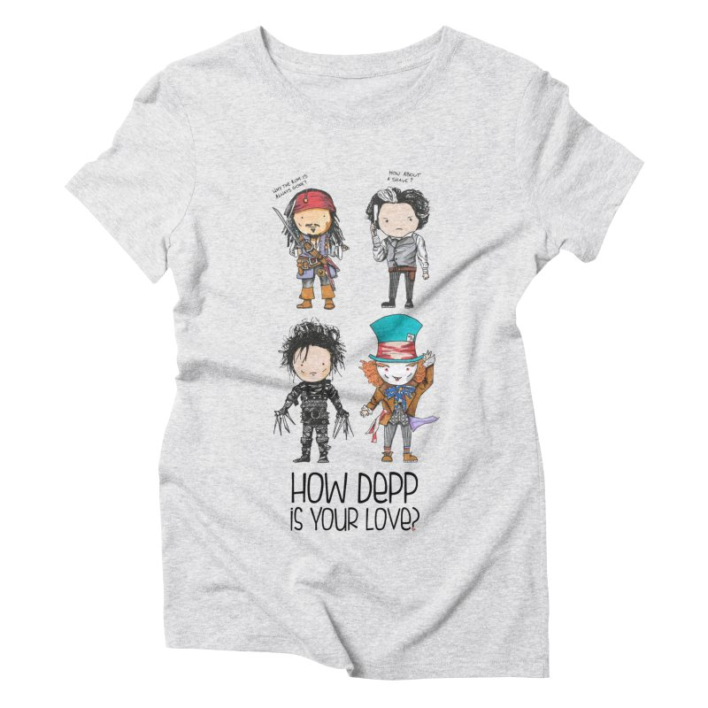 How Depp is your love? Women's T-Shirt by Origami Studio