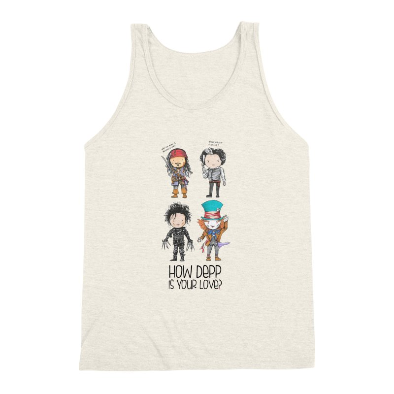 How Depp is your love? Men's Triblend Tank by Origami Studio