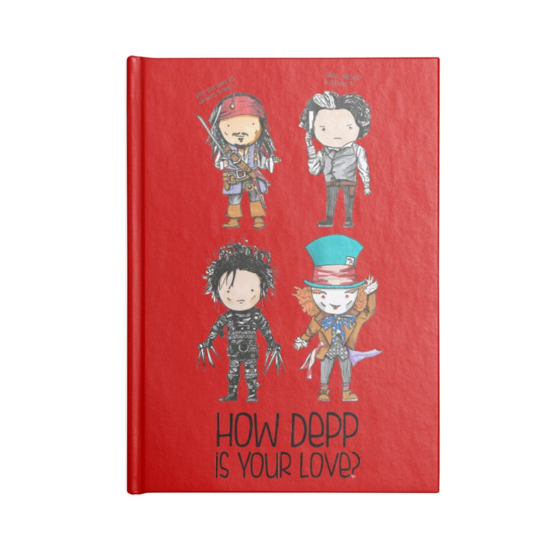 How Depp is your love? Accessories Lined Journal Notebook by Origami Studio
