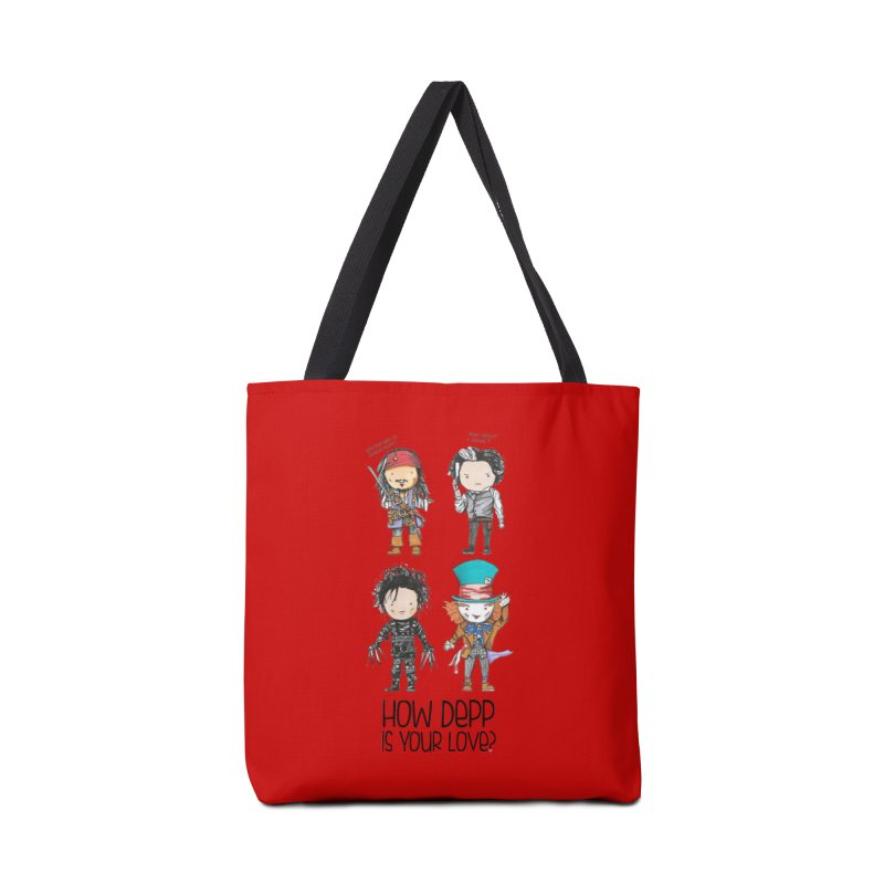 How Depp is your love? Accessories Tote Bag Bag by Origami Studio