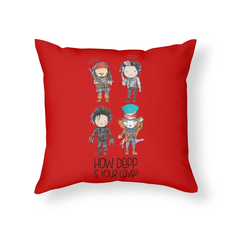 How Depp is your love? Home Throw Pillow by Origami Studio