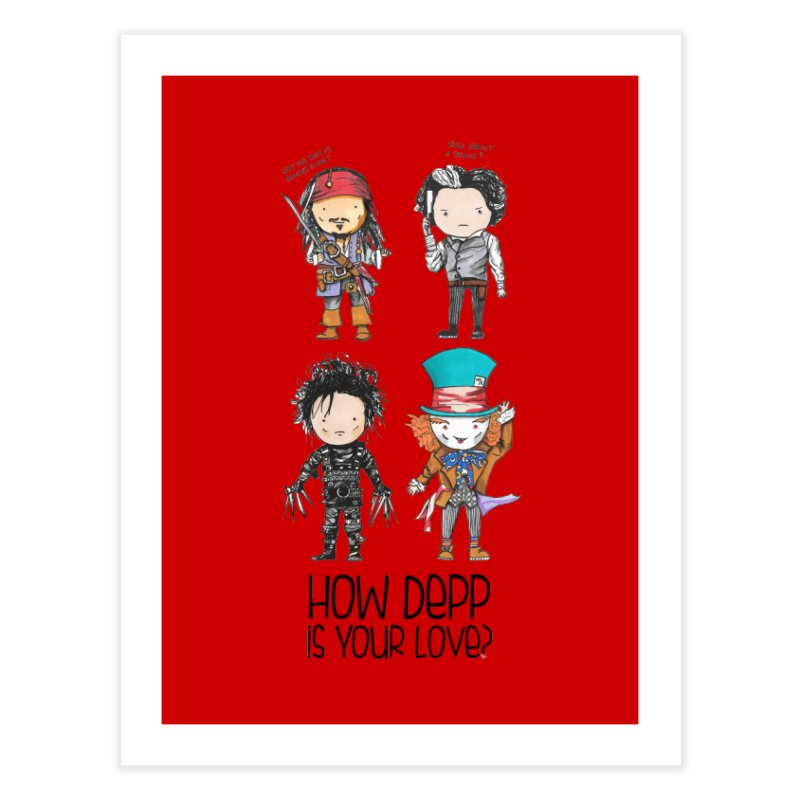 How Depp is your love? Home Fine Art Print by Origami Studio