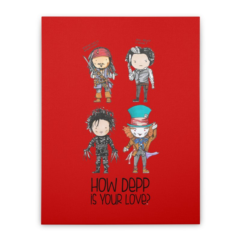 How Depp is your love? Home Stretched Canvas by Origami Studio