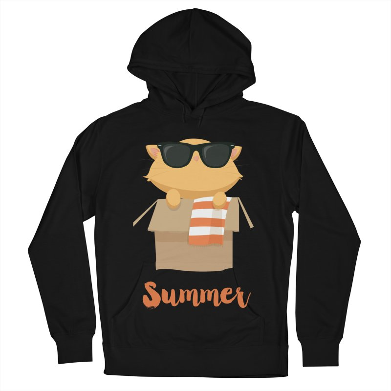 Summer Kitty Women's French Terry Pullover Hoody by Origami Studio