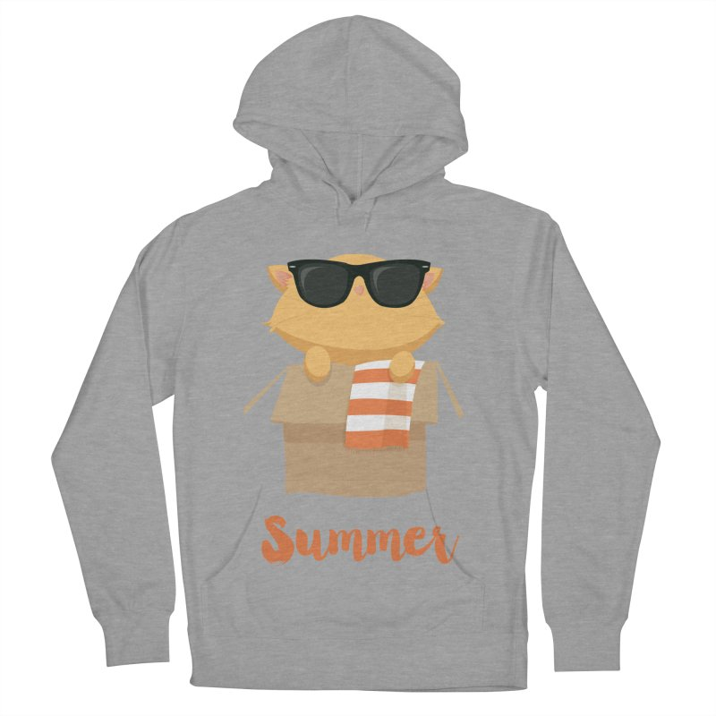 Summer Kitty Men's French Terry Pullover Hoody by Origami Studio