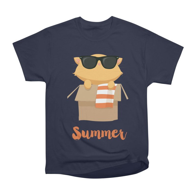 Summer Kitty Women's Heavyweight Unisex T-Shirt by Origami Studio