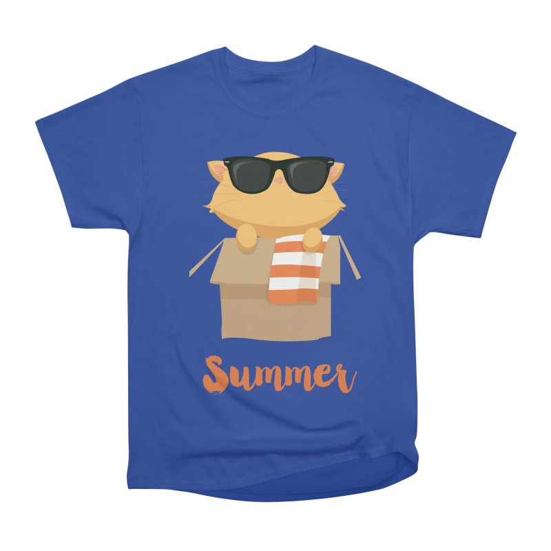 Summer Kitty Men's Heavyweight T-Shirt by Origami Studio