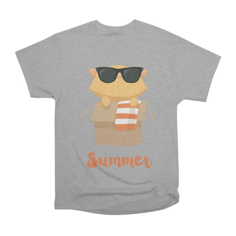 Summer Kitty Women's Heavyweight Unisex T-Shirt by Origami Studio