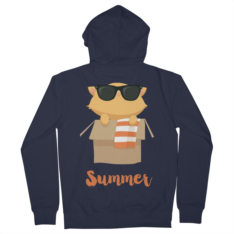 Summer Kitty Women's French Terry Zip-Up Hoody by Origami Studio