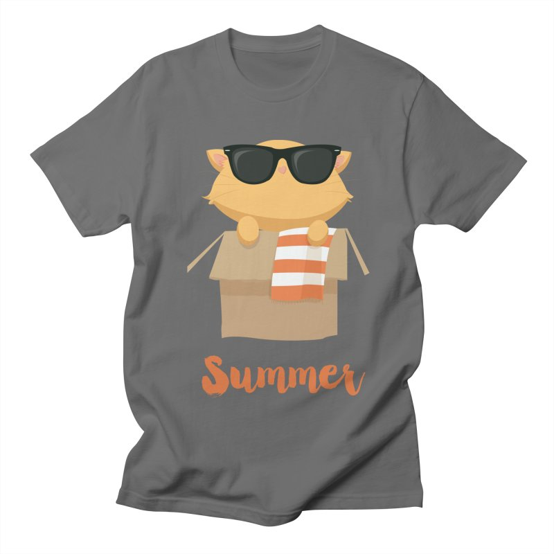 Summer Kitty Men's T-Shirt by Origami Studio