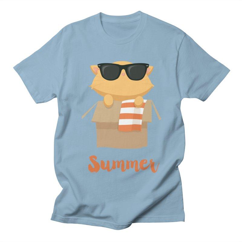 Summer Kitty Women's Regular Unisex T-Shirt by Origami Studio