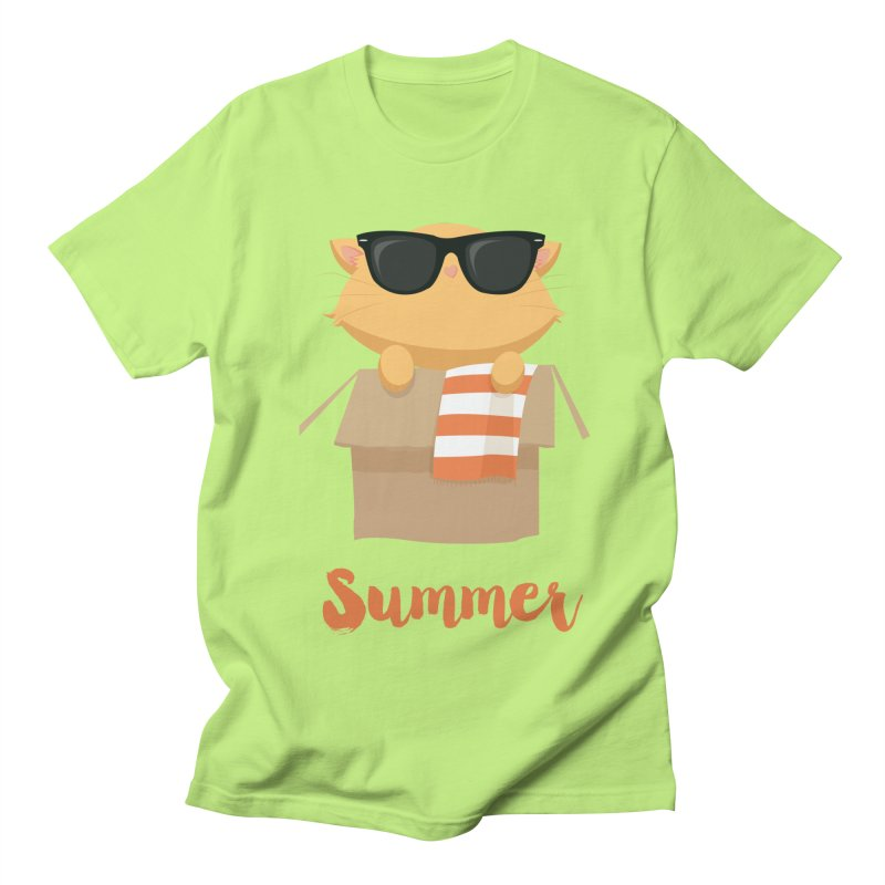Summer Kitty Men's Regular T-Shirt by Origami Studio