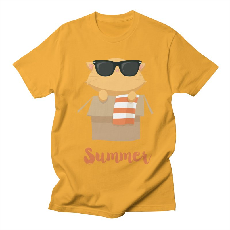 Summer Kitty Women's Regular Unisex T-Shirt by Origami Studio