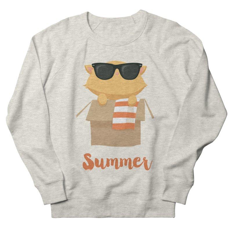 Summer Kitty Women's French Terry Sweatshirt by Origami Studio