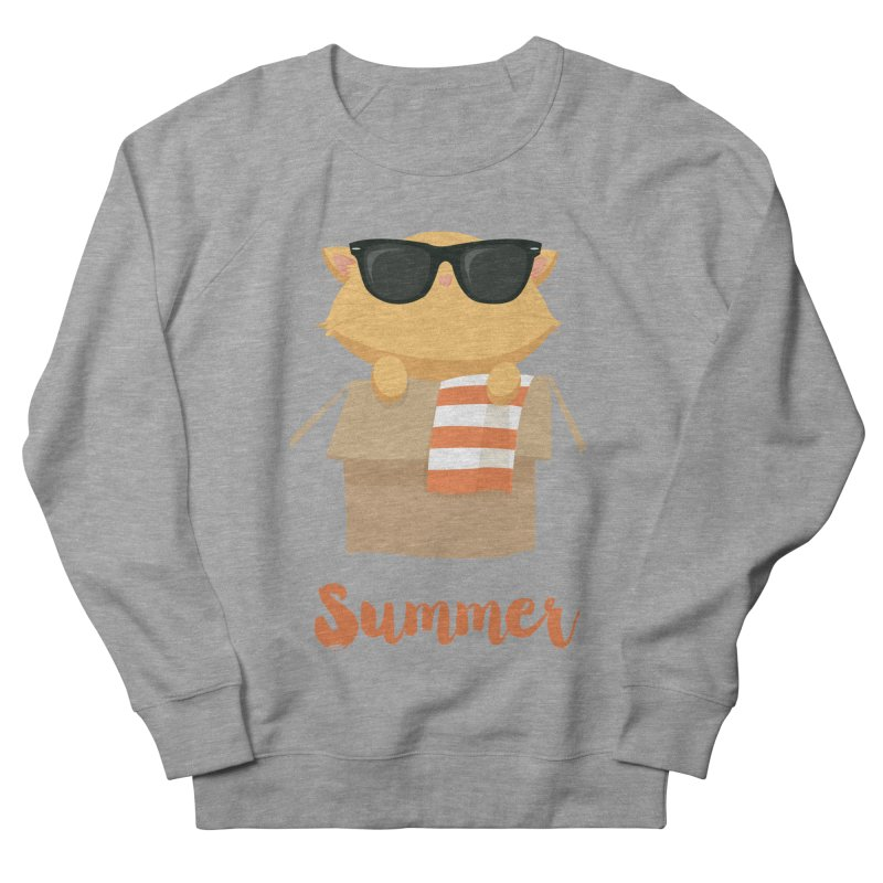 Summer Kitty Men's French Terry Sweatshirt by Origami Studio