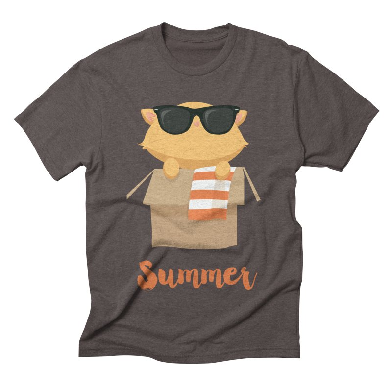 Summer Kitty Men's Triblend T-Shirt by Origami Studio