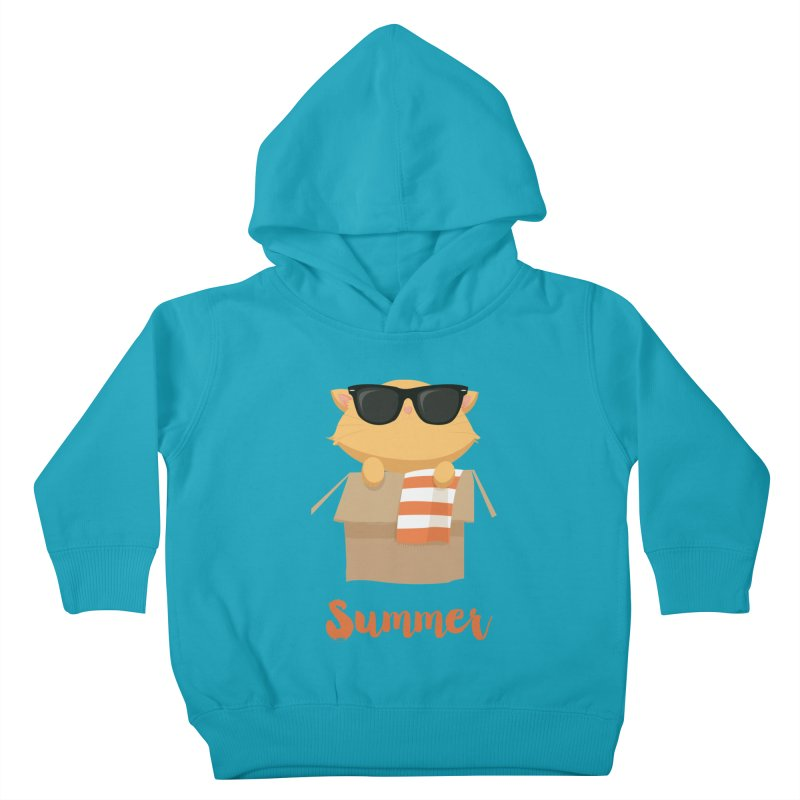 Summer Kitty Kids Toddler Pullover Hoody by Origami Studio